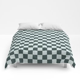 Checkerboard Pattern Inspired By Night Watch PPG1145-7 & Cave Pearl PPG1145-3 Comforters
