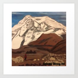 """ Bear in Mountain"" Art Print"