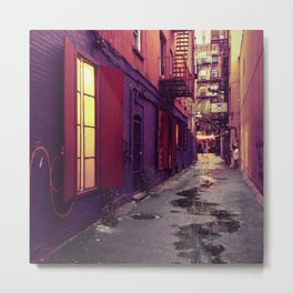 Evenings on the Lower East Side, New York City Metal Print
