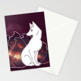 Nine Tails of Space Clouds - Galaxy Kitsune Stationery Cards
