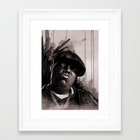 biggie Framed Art Prints featuring BIGGIE by ChrisGreavesCreative