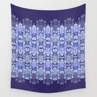 gemma Wall Tapestries featuring Indonesian Blue by Gemma Hodgson Design
