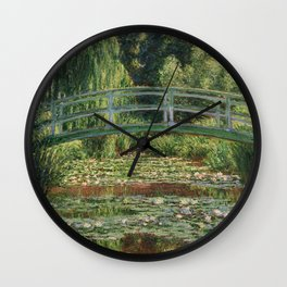Monet - The Japanese Footbridge and the Water Lily Pool Wall Clock