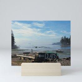 Orcas Island Clams and Oysters Mini Art Print