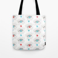 kenzo Tote Bags featuring Illuminati eyes! by graceinspace