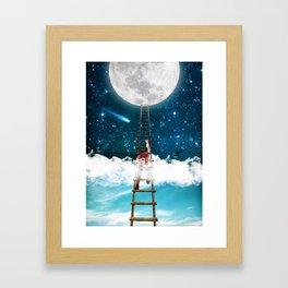 Reach for the Moon v2 Framed Art Print