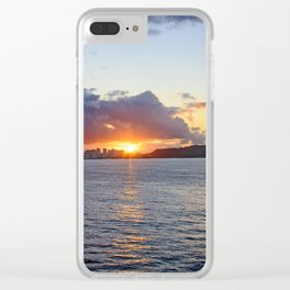 Pacific Sunrise Clear iPhone Case