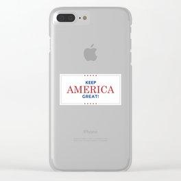 Keep America Great KAG Trump2020 Clear iPhone Case
