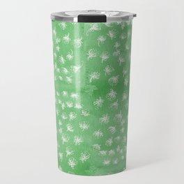 flakes of Pohutukawa- green Travel Mug