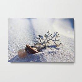 Beach sand & Coral Metal Print