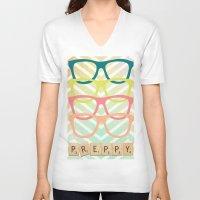 preppy V-neck T-shirts featuring Preppy by BlytheStarlight