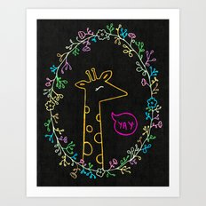 Happy Giraffe Art Print