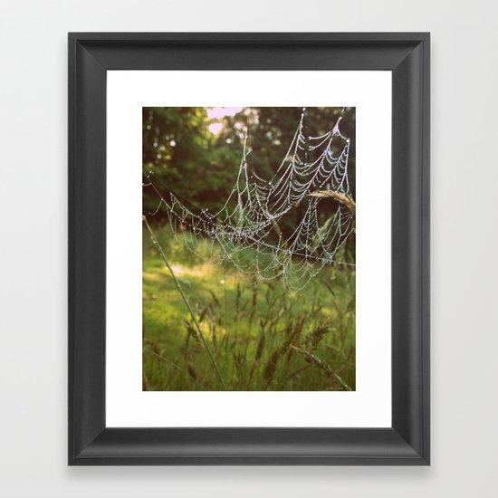 Beads on a String Framed Art Print