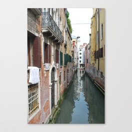 Life on the Canal Canvas Print