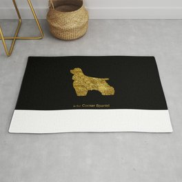Dogs | Cocker spaniel | Gold foil Rug