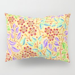 Sunshine Filigree Floral Pillow Sham