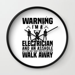 Electrician Power Cord Work Gift Wall Clock