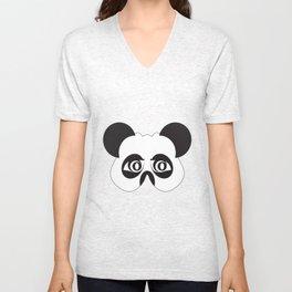 Panda party mask face Unisex V-Neck