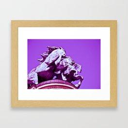 Horses gone wild Framed Art Print
