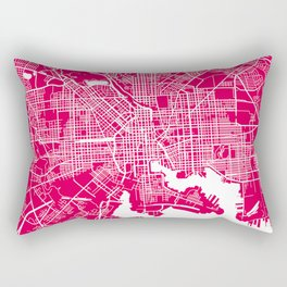 Baltimore map rapsberry Rectangular Pillow