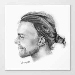 AI Pencil Portrait Canvas Print