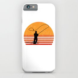 Vintage Fly Fishing Angler Gift iPhone Case