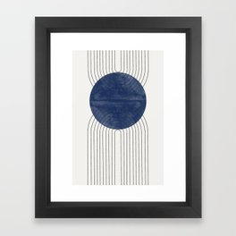 Blue Perfect Balance Framed Art Print