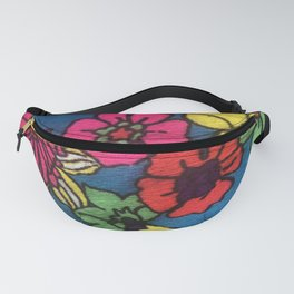 60's floral fabric 2 Fanny Pack