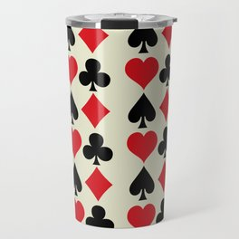 Playing Card Suits Print Travel Mug