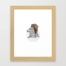 Native wood eagle Framed Art Print