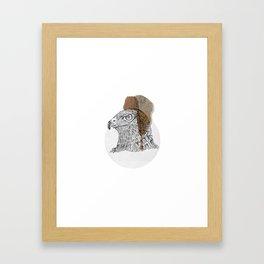 Native wood eagle Framed Art Print