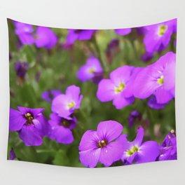 Pink Purple Impatiens Flowers Wall Tapestry
