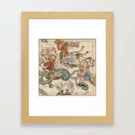 Constellations Andromeda, Pegasus, Cetus and Aries Framed Art Print