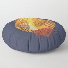 Autumn came Floor Pillow