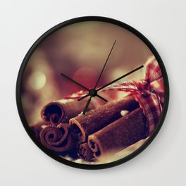 Cinnamon and almond scent for Christmas Wall Clock