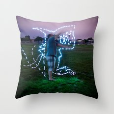 Devil Shark W/JMR1 Throw Pillow