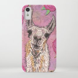 Perfectly Pink Llama iPhone Case