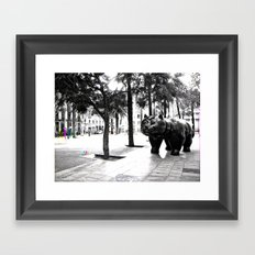 Tuesday 6 November 2012: arrival in remnant successions Framed Art Print