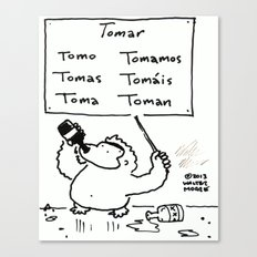 Spanish Verb Conjugation Ape Canvas Print