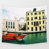 italy Wall Tapestries featuring Venice, Italy by Victor Senkov