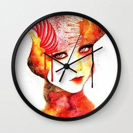 Fireflower Wall Clock