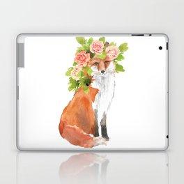 fox with flower crown Laptop & iPad Skin