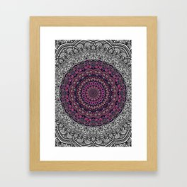 Purple color mandala Sophisticated ornament Framed Art Print