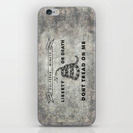 Culpeper Minutemen flag, Worn distressed textues iPhone Skin