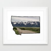 montana Framed Art Prints featuring Montana by Justine O'Neil Photography