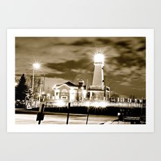 dark night bright light Art Print