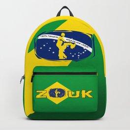 lets dance brazilian zouk flag design Backpack