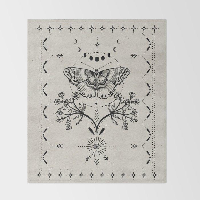 Magical Moth Throw Blanket