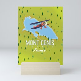 Mont Cenis Savoie, france map. Mini Art Print