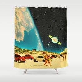 Galaxy Beach Shower Curtain